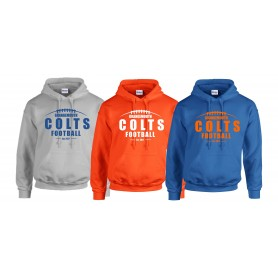 Grangemouth Colts - Colts Laces Logo Hoodie