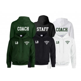 Leicester Longhorns - Embroidered and Print Coach or Staff Hoodie