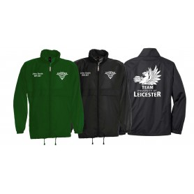 Leicester Longhorns - Print and Embroidered Lightweight Rain Jacket