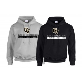 Clyde Valley Blackhawks - CV Text Logo 1 Hoodie