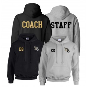 Clyde Valley Blackhawks - Blackhawks Printed and Embroidered Coach or Staff Hoodie