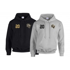 Clyde Valley Blackhawks - CV Embroidered Number Hoodie