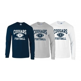 Cobham Cougars - Custom Ball 1 Logo Long Sleeve T Shirt