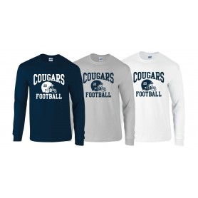 Cobham Cougars - Custom Helmet Long Sleeve T Shirt