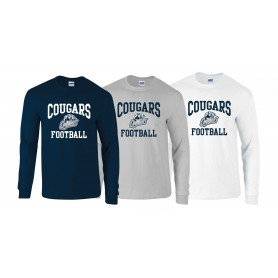 Cobham Cougars - Football Logo Long Sleeve T Shirt