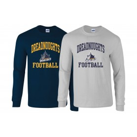 Portsmouth Dreadnoughts - Ship Football Logo Long Sleeve T Shirt