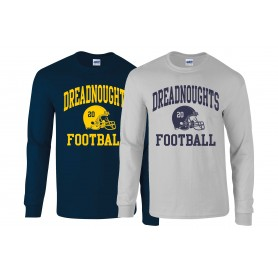 Portsmouth Dreadnoughts - Custom Helmet Long Sleeve T Shirt