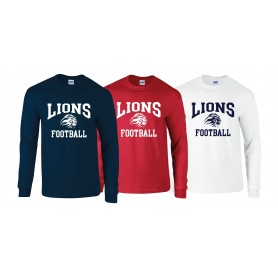Birmingham Lions  - Football Logo Long Sleeve T Shirt