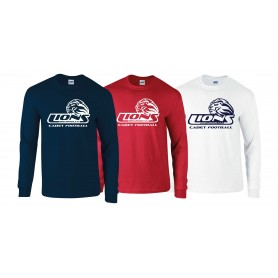 Birmingham Lions  - Cadet Football Logo Long Sleeve T Shirt