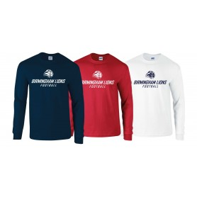 Birmingham Lions  - Text Logo Long Sleeve T Shirt