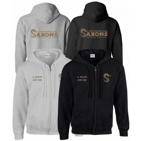 Staffordshire Saxons - Custom embroidered Zip Hoodie