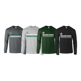 South Wales Warriors - Athletic Split Text Long Sleeve T Shirt