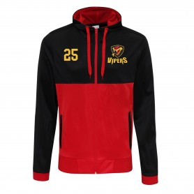 Donegal Derry Vipers - Embroidered Retro Track Zip Hoodie