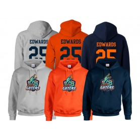 Gwent Gators - Full Logo and Number Hoodie