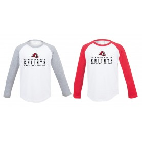 Edinburgh Napier Knights - Kids Raglan Sleeve Contrast T-Shirt