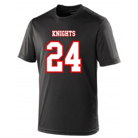 Edinburgh Napier Knights - Performance Personalised Replica Jersey Style T-Shirt