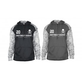 Knottingley Raiders - Embroidered Sports Blend Text Logo Hoodie