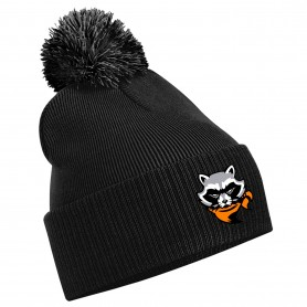 Rugby Raccoons - Embroidered Bobble Hat