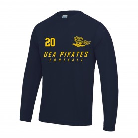 UEA PIrates - Custom Performance Long Sleeve T Shirt