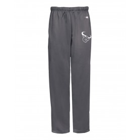Lincolnshire Longhorns - Embroidered Badger Open Bottom Joggers
