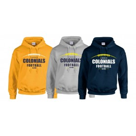 Lincoln Colonials - Laces Logo Hoodie