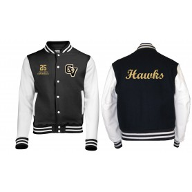 Clyde Valley Hawks - Custom Print and Embroidered Varsity Jacket