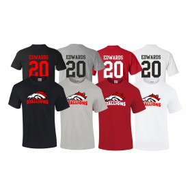Aschaffenburg Stallions - Full Logo With Name And Number T Shirt
