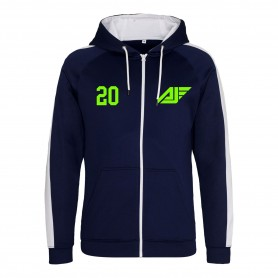 Antrim Jets - Embroidered Sports Performance Zip Hoodie