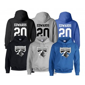 Crewe Railroaders - Full Logo With Name And Number Hoodie