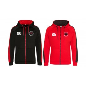 Bradford Bears - Embroidered Sports Performance Zip Hoodie