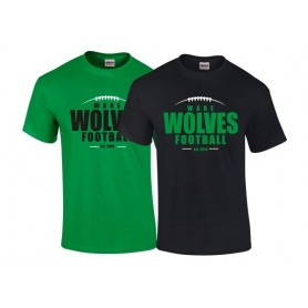 Ware Wolves - Wolves Football Logo T-Shirt
