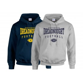 Portsmouth Dreadnoughts Women - Custom Ball Logo 2 Hoodie