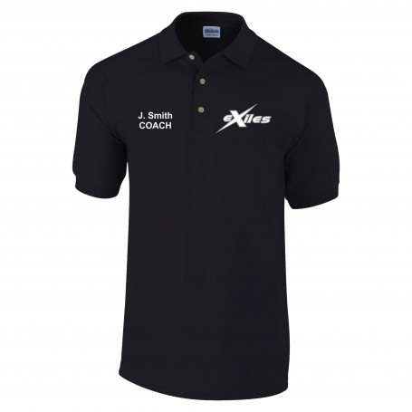 Kent Exiles - Coaches Custom Embroidered Polo Shirt