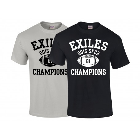 Kent Exiles - SFC2 South Champions T Shirt