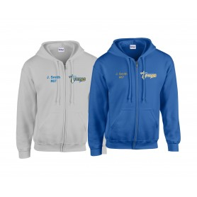 Manchester Titans - Custom Embroidered Zip Hoodie