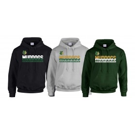 Bangor Mud Dogs - Athletic Split Text Logo Hoodie