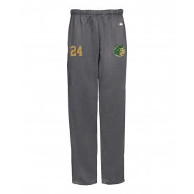 Bangor Mud Dogs - Embroidered Badger Open Bottom Joggers