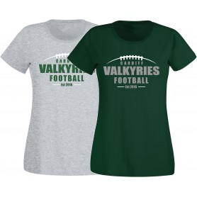 Cardiff Valkyries - Women's Fit Laces Logo T-Shirt