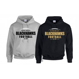 Clyde Valley Blackhawks - Laces Logo Hoodie