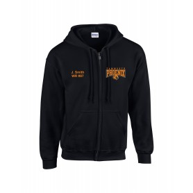 Tamworth Phoenix - Custom Embroidered Zip Hoodie