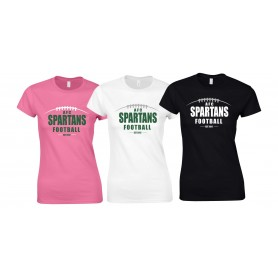 AFC Spartans - Women's Fit Laces Logo  T-Shirt
