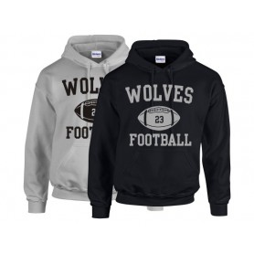 Bucks Wolves - Custom Ball Logo Hoodie 1
