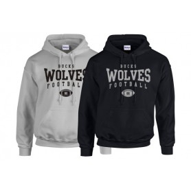Bucks Wolves - Custom Ball Logo Hoodie 2