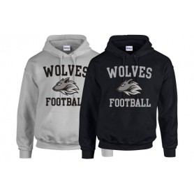 Bucks Wolves - Wolves Football Logo Hoodie