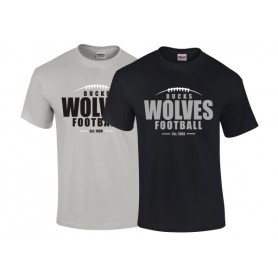 Bucks Wolves - Custom Ball Logo T-Shirt 2