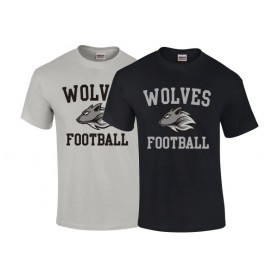 Bucks Wolves - Wolves Football Logo T-Shirt