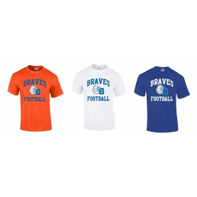Derby Braves - Football Logo T-Shirt