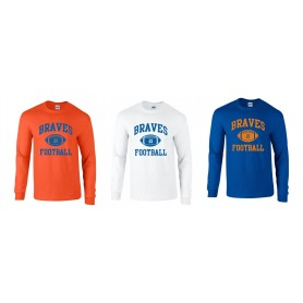 Derby Braves - Custom Ball Logo Long Sleeve T-Shirt