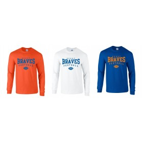 Derby Braves - Custom Ball Logo Long Sleeve T-Shirt 2