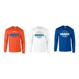 Derby Braves - Laces Logo Long Sleeve T-Shirt